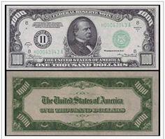 1000, Dollar USA, emitido en 1934