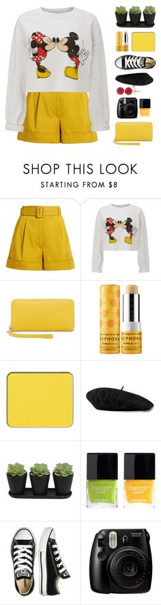 """""""Untitled #2009"""" by tinkertot ❤ liked on Polyvore featuring Isa Arfen, Miss Selfridge, FOSSIL, Sephora Collection, shu uemura, Gucci, Butter London, Converse, Fujifilm and Pori"""
