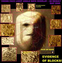 2009 image  release – New evidence - Mars face is build from stone blocks,