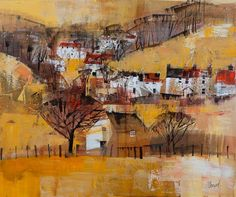 Mike BernardBrascombe, Devon. collage and acrylics