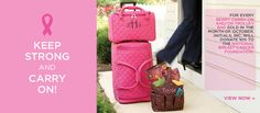 Keep Strong and Carry On! Breast Cancer Awareness for October 2012 | Initials, Inc.   www.wonderwehrbags.com