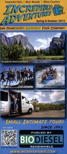 Incredible Adventures #Travel #Brochure #IncredibleAdventures #SanFrancisco #California