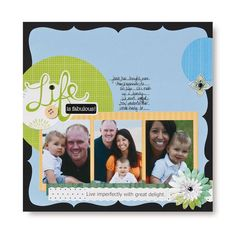 Life is Fabulous Scrapbook Layout Page Idea from Creative Memories #scrapbooking    www.creativememor...