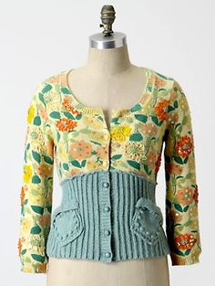 This caught my eye for a little number made from upcycled sweaters and I love duck egg blue