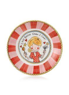 Blond Amsterdam Diep bord Even Bijkletsen, 23cm