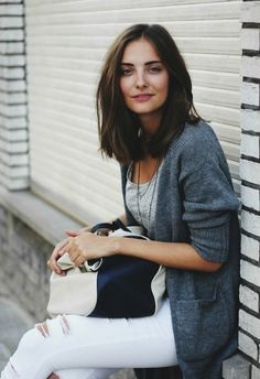 White Jeans _ Street Style _ Polienne