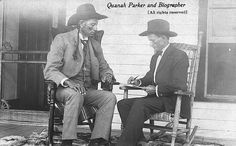 Quanah Parker - being interviewed by a biographer. At this time, through shrewd investments, part ownership of a railroad, and a profitable cattle ranch, he had become perhaps the wealthiest Indian in America. Native American Church, Native American Images, Native American Tribes, Native American History, Quanah Parker, Wichita Mountains, Texas History, Native Indian, Before Us