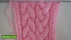 Punto (puntada) trenzas (ochos) Tutorial de tejido con dos agujas (tejido con dos palitos) Gráfico (esquema) en mi blog…