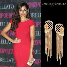Spanish actress @hibaabouk_oficial looked extremely splendid at the @cosmopolitan_es beauty awards wearing the new #CarrerayCarrera Sierpes earrings plus Reina ring #jewelry #jewels #jewel #fashion #gems #gem #gemstone #bling #stones #stone #trendy #accessories #love #style #fashionista #accessory #instajewelry #stylish #jewelrygram #fashionjewelry #hibaabouk