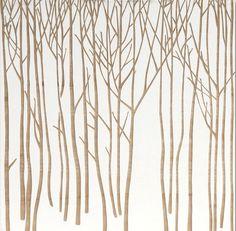 Earth de Fleur Homewares - Sapling Forest Mangowood Carved Wood Artwork Wall Decor