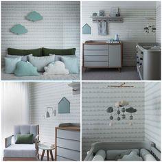 Cloud Nursery Decor, Baby Room Decor, Nursery Room, Bedroom Decor, Baby Bedroom, Baby Boy Rooms, Girls Bedroom, Toddler Rooms, Apartment Interior Design