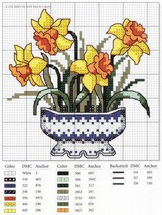 Bordados de macetas con flores en punto de cruz06