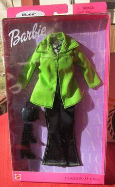Barbie Fashion Avenue Blues Dance PARTY1999 Green Jacket Jeans Accessories | eBay