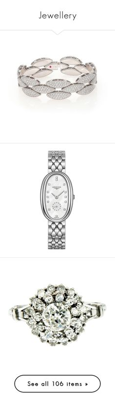 """""""Jewellery"""" by fizzy76 ❤ liked on Polyvore featuring jewelry, bracelets, diamond fine jewelry, hinged bangle, white gold jewellery, fine jewelry, white gold bangle bracelet, watches, stainless steel and stainless steel jewellery"""