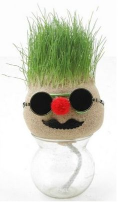 How To Make A Grass Head (Grass Doll) Step By Step