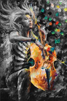 Leonid Afremov -   RHAPSODY -  Arts, arts in our life