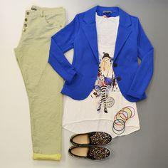 canotta #EFA299 giacca #colori pantalone #serinaf