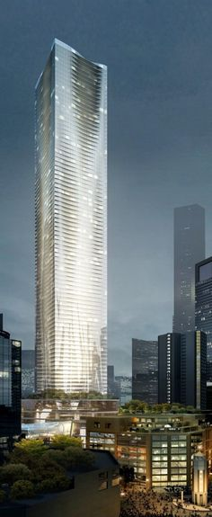 Urban Forest Tower, Chongqing, China by MAD Architects :: 91 floors, height 398m, 2. proposal