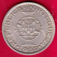 PORTUGUESE INDIA GOA - 1959 - ONE ESCUDO - RARE COIN P52
