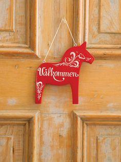 Dala-Horse-Sign-Valkommen