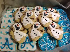 Disney Frozen sugar cookies