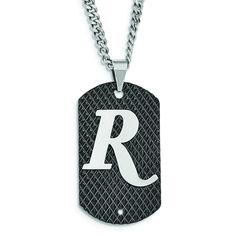REMINGTON stainless steel diamondback dog tag. Diamondback Collection by Hunter's Jewels. Officially licensed product.