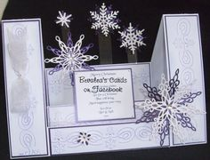Floating Snowflakes Christmas Centre Stepper Card