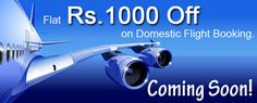 "Hi All, We are coming up with Awesome Offer!! Flat Rs. 1000 off on Domestic Flight Booking!! Hit ""Like"" & Pin it"