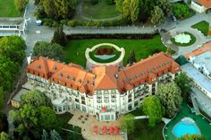 The Thermia Palace, Piest'any, Slovakia.  Home away from home when we're not with the relatives.