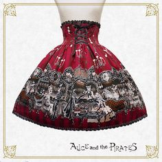 Alice and the Pirates Rosy night's Masquerade skirt