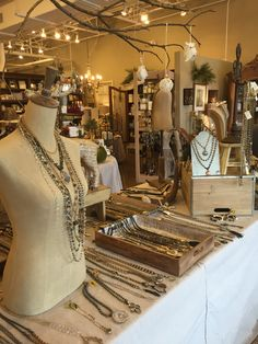 Trunk show display for Lisa Jill Jewelry at C'est Moi in Marietta Ga