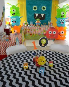 Partylicious Events PR: {Little Monster Birthday Bash} Little Monster Birthday, Monster 1st Birthdays, Baby Boy First Birthday, Monster Birthday Parties, Birthday Bash, Birthday Party Themes, First Birthdays, Birthday Ideas, Happy Birthday