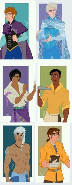 If Disney girls from Frozen, Hunchback, Princess and the Frog, Atlantis, and Tarzan were guys Genderbend Disney Pixar, Walt Disney, Disney Amor, Disney Fan Art, Disney And Dreamworks, Disney Girls, Disney Animation, Disney Magic, Animation Movies