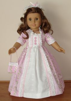 COLONIAL BALL GOWN FOR ELIZABETH OR FELICITY FITS AMERICAN GIRL ...