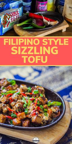 If you're looking for tofu recipe ideas, why not try this Filipino inspired sizzling tofu recipe. It have the perfect balance of savory, spicy, and sweet. Try this now or pin it for later! #tofurecipe #cookingforone #30minutemeals #dinnerideas #vegetariandish #filipinofood #filipino recipes | best tofu recipes | tofu dinners | tofu meals | how to cook tofu | tofu dinner recipes | cooking with tofu | recipe with tofu | tofu ideas | asian tofu | Dairy free dinners