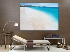 PARADISE  Huge beach painting,  modern abstract art  Artist: Pedersen, Maria  Artwork title: Paradise