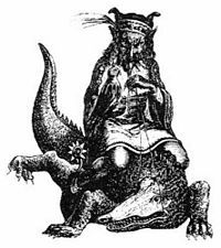 "Agares (also Agarat, Agaros, or Agarus) is a demon described in demonological grimoires such as the Livre des Esperitz (as Agarat), the Pseudomonarchia Daemonum, the Lesser Key of Solomon (or Lemegeton), and the Dictionnaire Infernal as a duke ""under the powers of the east,"" an ""old man, riding upon a crocodile, and carrieng a hawke on his fist,"" who teaches languages, stops and retrieves runaway persons, causes earthquakes, and grants noble titles."
