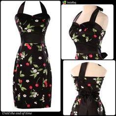 Grace K Dresses & Skirts - ️HP 1/30, 7/15CHERRY BLOSSOM HALTER DRESS