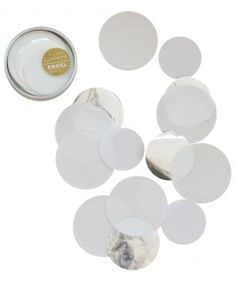 Confetti white silver