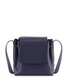 SOPHIE HULME Claremont Leather Crossbody Bag, French Navy. #sophiehulme #bags #shoulder bags #leather #crossbody #