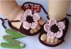 Crochet Flower Baby Sandals