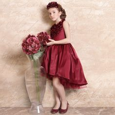 Hi-Low Flowers Girls Brithday Flower Girls Dresses Gown Kid Formal Party Gown #Handmade…