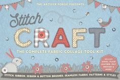 Stitch Craft - Brushes Styles & More by The Artifex Forge on @creativemarket  Add That hand made look in illustrator!  This really is quite excellent!