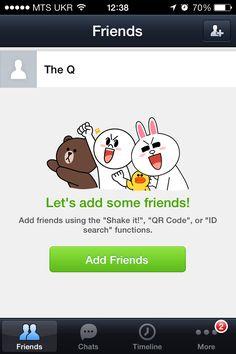 Line messenger app UI