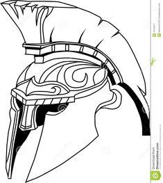 斯巴达盔甲(一件古希腊战士盔甲的例证, 向量例证- 图片: 41576377