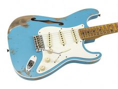 Fender Eric Johnson Thinline Stratocaster Semi-hollow Guitar ob Vintage White Harmonious Colors