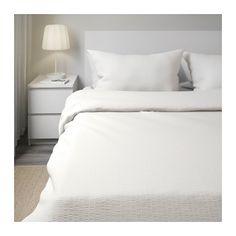 OFELIA VASS Duvet cover and pillowcase(s), white white Full/Queen (Double/Queen)