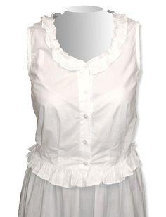 Traditional Victorian Camisole - White Cotton
