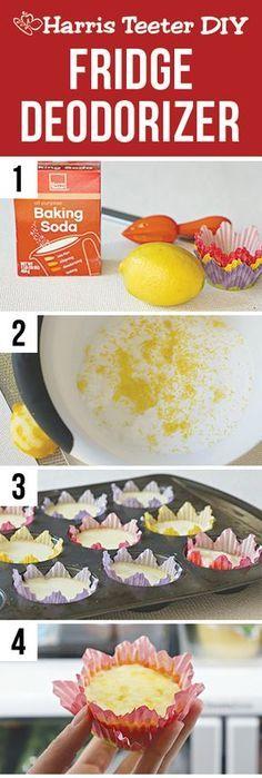 Freshen up your refrigerator with this lemon zest DIY fridge deodorizer. #TeeterTip