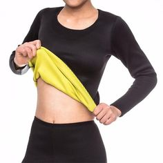 f35e34af11 Hot body shaper top T-shirt Long Sleeves neoprene Shapers Shirt Neoprene  Slimming Body Shaper
